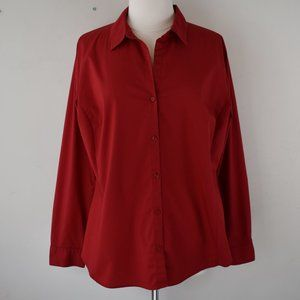 Size 18 Red Long Sleeve Button Up Shirt